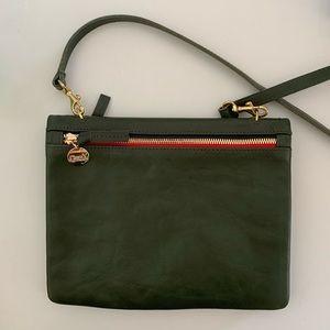 "NWT Clare V ""jumelle"" crossbody olive green bag"